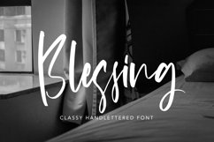 Blessing - Classy Handlettered Font Product Image 1