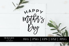 Happy Mother's Day SVG Cut File - SVG PNG JPEG DXF EPS Product Image 1
