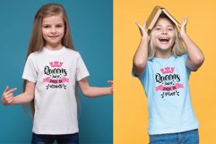 Queens Are Born In.. SVG Bundle 12 Designs Product Image 4