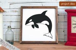 Orca SVG | Killer Whale Clipart Bundle | Ocean Animals Product Image 3