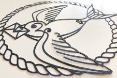 Swallow Paper Cut, Nautical SVG Product Image 5