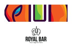 Royal Bar - Elephant Animal Stock Logo Template Product Image 3