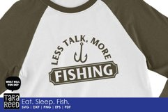 Eat Sleep Fish - Fishing SVG and Cut Files for Crafters Product Image 4