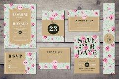 Vintage Wedding Invitation Suite Product Image 1