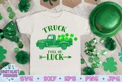 truck svg, clover svg, st patrick's day svg, kids svg, luck Product Image 1