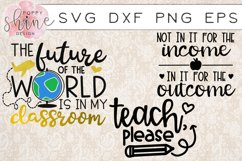 Teachin' Bundle of 17 SVG PNG EPS DXF Cutting Files Product Image 4