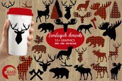 Lumberjack clipart, graphic, illustration, AMB-2315 Product Image 1