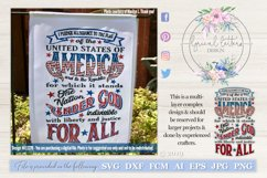 Pledge of Allegiance Patriotic July 4th SVG DXF LL127B Product Image 1