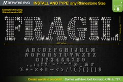 Editable Rhinestone template Seal TTF Font by Artworks SVG Product Image 1
