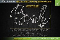 Editable Rhinestone template Script font TTF Font by Artwork Product Image 1