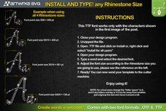 Editable Rhinestone template Script font TTF Font by Artwork Product Image 2