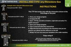 Rhinestone template Editable Modern TTF Font by Artworks SVG Product Image 2