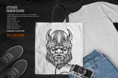 Viking troops Silhouette horned helmets Product Image 1