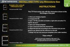 Rhinestone template Editable Skinny TTF Font by Artworks SVG Product Image 2