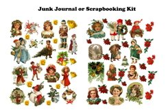 Vintage Christmas Junk Journal or Scrapbook Add Ons Kit PDF Product Image 2