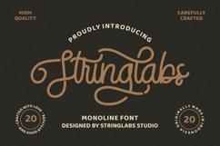 StringLabs - Monoline Retro Font Product Image 1