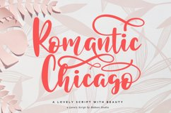 Romantic Chicago a Lovely Handwritten Script Product Image 1
