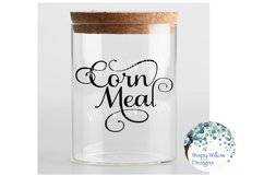 Corn Meal Label, Kitchen, Pantry, Cut File Product Image 2