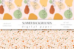 Summer Digital Paper Set - Summer Backgrounds Product Image 5