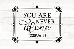 Christian svg, You are never alone, Joshua 1 9, bible verse Product Image 1