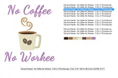 No COFFEE No WORKEE in 2 sizes - Instant Download Product Image 2