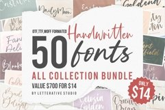 Handwritten 50 Fonts | All Collection Bundle Product Image 1
