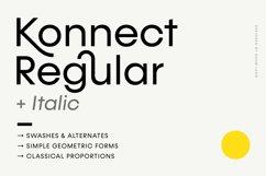 Konnect Regular & Italic Fonts Product Image 1
