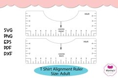 T Shirt Placement Ruler|T Shirt Ruler SVG|T Shirt Alignment Product Image 1