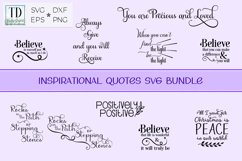 Inspirational Quote Bundle, Positive Sayings Cut Files Product Image 1
