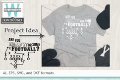 BUNDLED Football Cutting Files KWD006 Product Image 6
