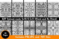Swirly Style Coloring Pages - Printable PDF. PNG, JPG files Product Image 2