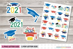 Graduation stickers | Class of 2021 graduation PNG stickers Product Image 1