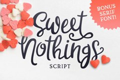 Sweet Nothings Script Bonus Font! Product Image 1