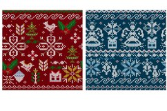 Knitted elements, symbols and Christmas decorations Product Image 5