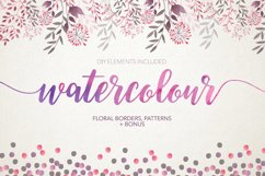 Watercolour floral borders& patterns Product Image 1