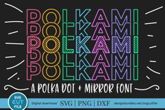 Polkami - a polka dot mirror font with stacked letters OTF Product Image 1