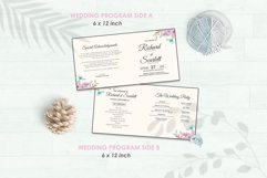 Wedding Invitation Set #12 Watercolor Floral Flower Style Product Image 5