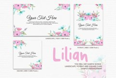 Lilian - Digital Watercolor Floral Flower Style Clipart Product Image 4