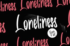 Loneliness   Brush Font Product Image 1
