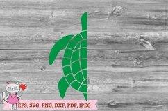 Sea Turtle Monogram SVG Product Image 2