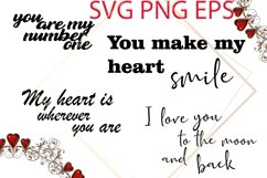 Valentines SVG, Love Phrases SVG Product Image 1