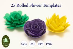 25 Rolled flowers svg, cutfiles, paper craft templates Product Image 6