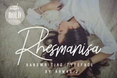 Rhesmanisa Script Font Product Image 1