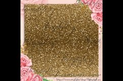 42 Antique Gold Glitter and Sequin Papers Product Image 3