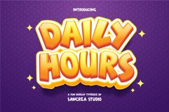 Daily Hours - A Fun Display Font Product Image 1