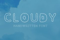 Cloudy handwritten font Product Image 1
