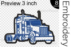 Applique Truck - Embroidery Files - 1495e Product Image 2