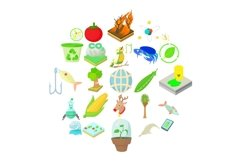 Vegetables icons set, cartoon style Product Image 1