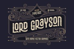 Lord Grayson font and template Product Image 1