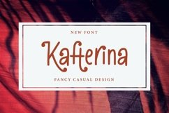 Web Font Kafterina - Fancy Casual Fonts Product Image 1